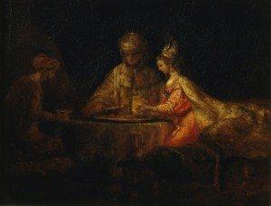 Rembrandt Ahasuerus,Haman et Esther