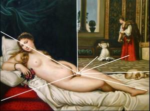 Titien Vénus d'Urbino composition