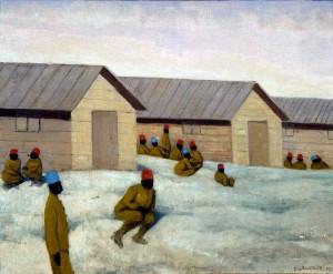 Vallotton paysage de guerre_sénégalais_au_camp_de_Mailly 1917 (Musée départemental de l'Oise (Beauvais)