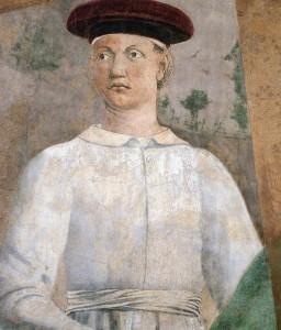 Piero fresques-vraie-croix Épisode 8Exaltation de la ste croix détail gauche