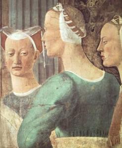 Piero fresques-vraie-croix-procession-de-la-reine-de-saba-1452-66