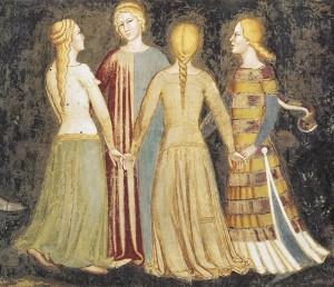 4. andrea di bonaiuto Triomphe de l'Eglise 3 - les vices et les péchés vanités des plaisirs terrestres - la danse 2 (1)