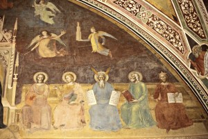 5. andrea di bonaiuto Triomphe de st thomas 1 ou allégorie des sciences partie supérieure - St Mathieu, St Luc, Moïse, Isaïe et Salomon