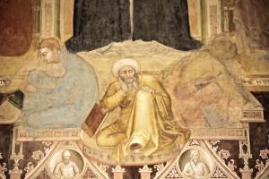 5. andrea di bonaiuto Triomphe de st thomas 3 - Hérétiques - Nestor, Arius et Averroès