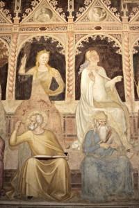 5. andrea di bonaiuto Triomphe de st thomas ou allégorie des sciences Théologie et Contemplation-San Giovanni Damasceno St. Denys, (2)
