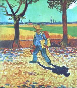 Van Gogh portrait Vincent sur la route de tarascon 1888