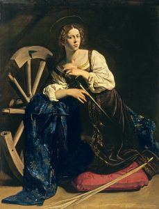 Caravage, Catherine d'Alexandrie (circa 1598  Madrid, collection Thyssen-Bornemisza)