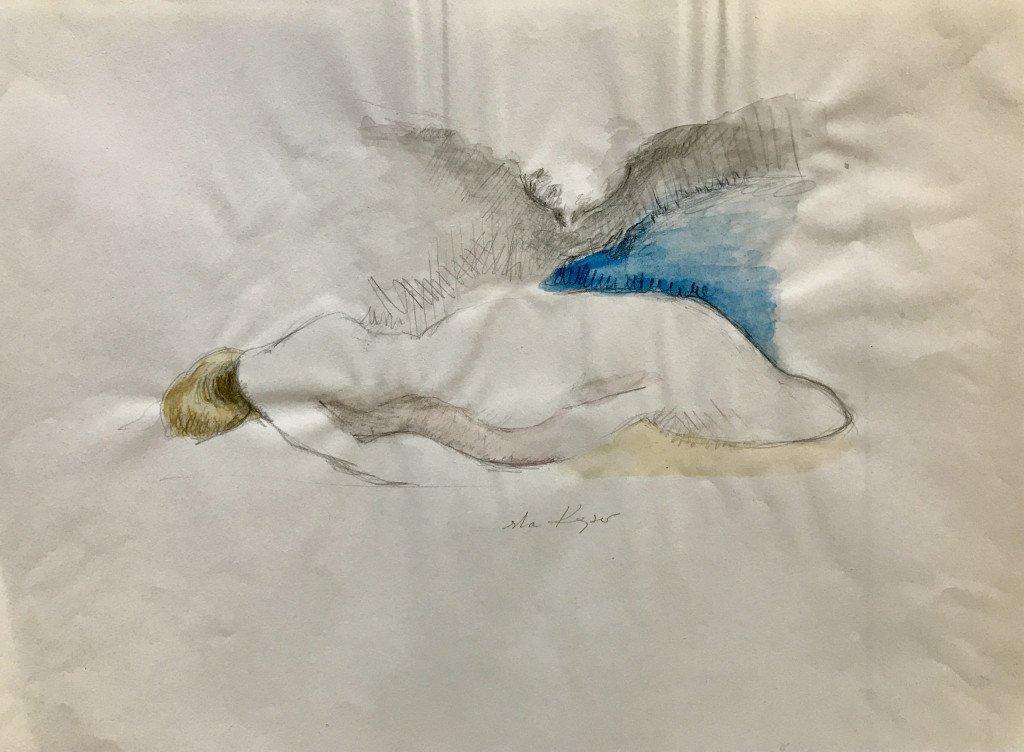 Nu, Eska KAYSER, technique mixte, 40 x 29,5 cm, 2007
